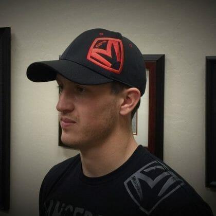 MKT Hat - Jersey Black, Red Logo