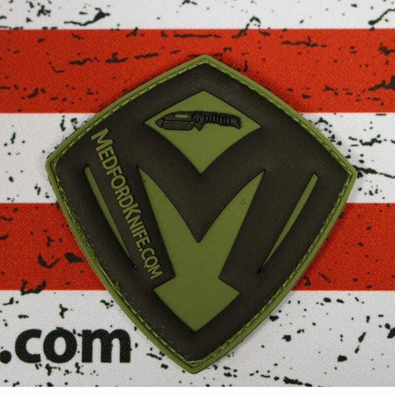 """3"""" Medford Shield Patch - OD Background with Black Shield"""