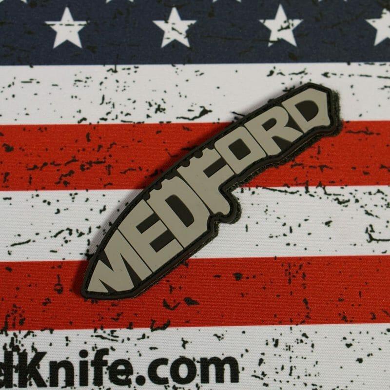 Medford Knife Patch - Grey on Black