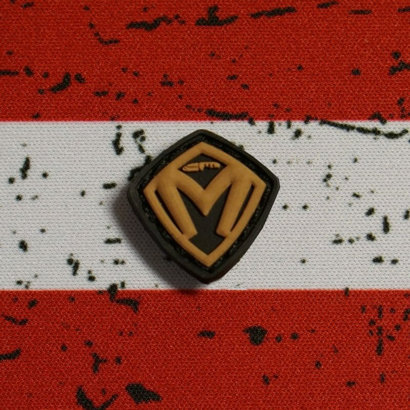 Mini Medford Shield Patch - Black Background with Coyote Shield