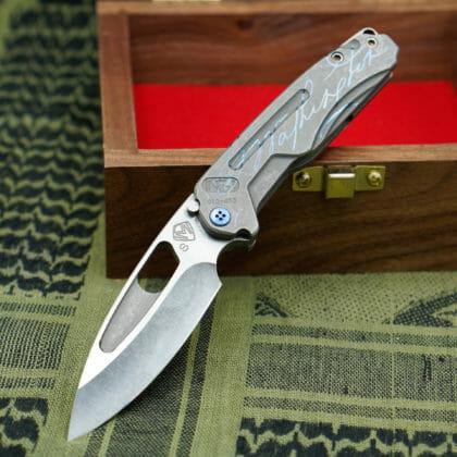 George Washington Knife #4 - Terminator/Blue Infraction - SOLD