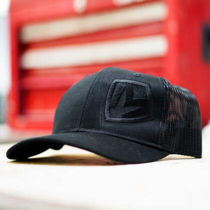 Black on Black Medford MKT Shield Snapback Hat